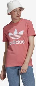 T-shirt Adidas Originals z bawełny z okrągłym dekoltem z krótkim rękawem