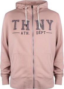 """Różowa bluza Tommy Hilfiger Bluza """"banker"""" z tkaniny"""