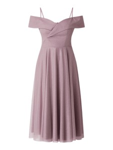 Sukienka Troyden Collection z krótkim rękawem midi
