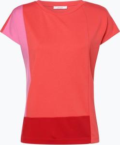 Pomarańczowy t-shirt Opus w stylu casual z okrągłym dekoltem