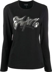 Czarny t-shirt Emporio Armani z długim rękawem