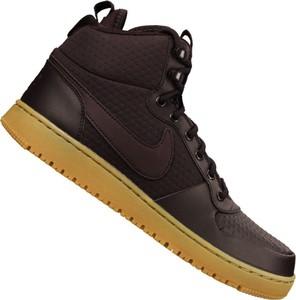 Brązowe buty sportowe Nike ze skóry