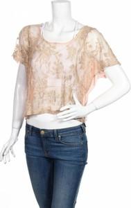 Brązowa bluzka Soul Cake w młodzieżowym stylu z okrągłym dekoltem