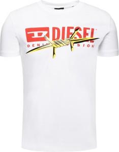 T-shirt Diesel z krótkim rękawem z nadrukiem