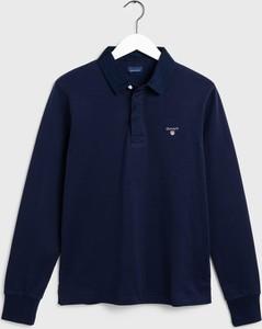 T-shirt Gant w stylu casual z długim rękawem