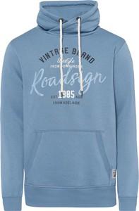 Niebieska bluza Roadsign z bawełny