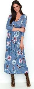 Sukienka Makadamia maxi z dekoltem w kształcie litery v z bawełny