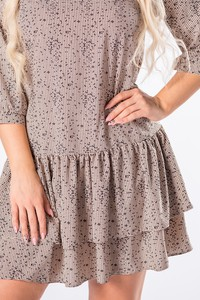Sukienka Ptakmoda.com trapezowa z długim rękawem
