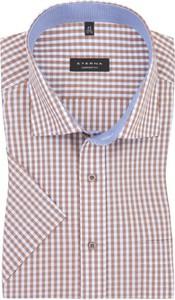Koszula Eterna z krótkim rękawem z bawełny w stylu casual