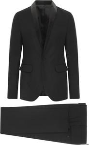 Czarny garnitur Dsquared2 z jedwabiu