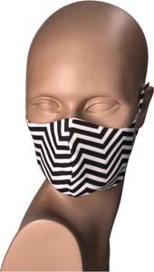 Bertoni Maseczka na twarz wielorazowa biało-czarna