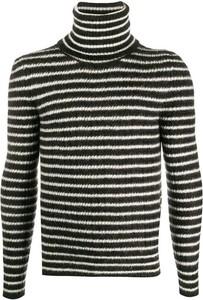 Czarny sweter SAINT LAURENT z moheru w młodzieżowym stylu