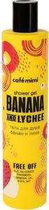 Cafe Mimi, żel pod prysznic, banan i liczi, oczyszczająco-tonizujący, 300 ml