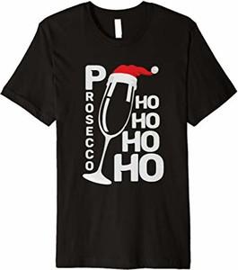 Czarna bluzka Geschenk T-shirts Für Damen Sekt Weihnachten