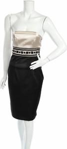 Czarna sukienka Nissa bez rękawów mini gorsetowa