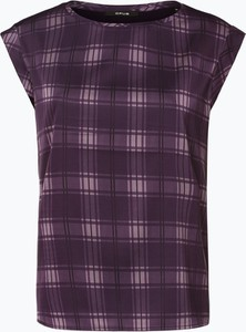 Fioletowa bluzka Opus z okrągłym dekoltem bez rękawów