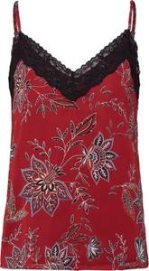 Czerwona bluzka Only z dekoltem w kształcie litery v
