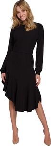 Sukienka Makover midi z długim rękawem z tkaniny