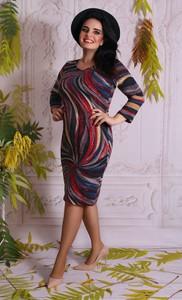 Sukienka Oscar Fashion z długim rękawem dopasowana