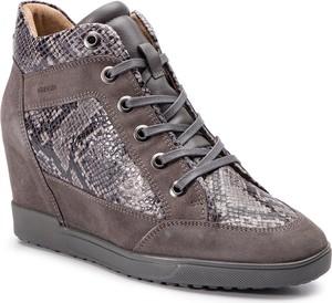 e4913fa1da7ee Sneakersy Geox ze skóry ekologicznej w młodzieżowym stylu na koturnie