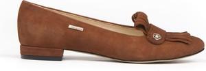 Baleriny Zapato ze skóry w stylu boho