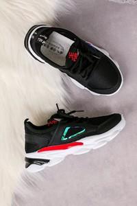 Czarne buty sportowe dziecięce Casu sznurowane