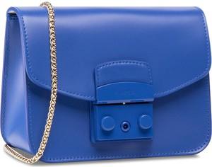 Niebieska torebka Furla matowa