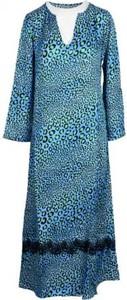 Niebieska sukienka Pink Memories z dekoltem w kształcie litery v midi z jedwabiu