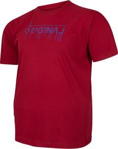 T-shirt Bigsize z krótkim rękawem z jeansu