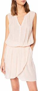 Różowa sukienka amazon.de z dekoltem w kształcie litery v bez rękawów