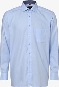 Niebieska koszula Andrew James z długim rękawem z bawełny z klasycznym kołnierzykiem
