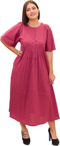 Różowa sukienka Max Mara Weekend w stylu casual z okrągłym dekoltem