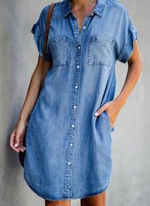 Niebieska sukienka Sandbella w stylu casual