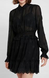 Czarna sukienka Inna koszulowa w stylu casual