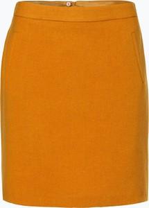 Żółta spódnica Marie Lund z wełny
