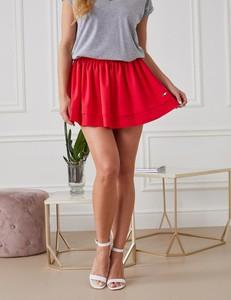 Czerwona spódnica Misha mini w stylu casual