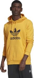 Żółta bluza Adidas z bawełny