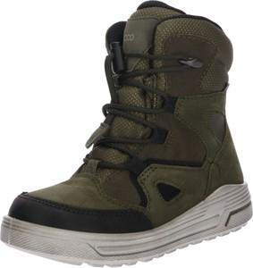 Buty dziecięce zimowe Ecco sznurowane ze skóry