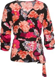 Bluzka bonprix BODYFLIRT w stylu casual z długim rękawem z dekoltem w kształcie litery v