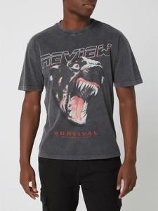 T-shirt Review z bawełny z krótkim rękawem z nadrukiem
