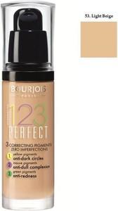 Bourjois, 123 Perfect Foundation, Podkład ujednolicający, nr 53 Light Beige, 30 ml