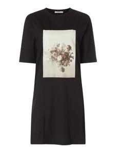 Czarna sukienka NA-KD z bawełny z krótkim rękawem w stylu casual
