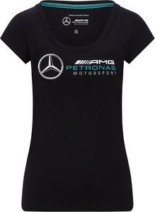 T-shirt Mercedes Amg Petronas F1 Team z krótkim rękawem w młodzieżowym stylu z bawełny