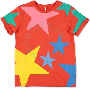 Czerwona bluzka dziecięca Stella McCartney z bawełny