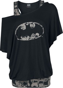 Czarny t-shirt Batman z krótkim rękawem