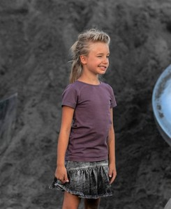 Fioletowa bluzka dziecięca Mashmnie dla dziewczynek z bawełny
