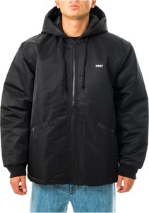 Czarny płaszcz męski Obey w stylu casual