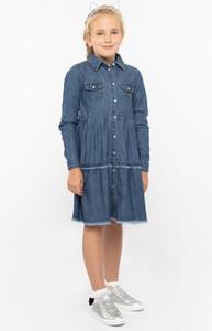Granatowa sukienka dziewczęca Guess