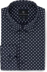 Granatowa koszula Pako Lorente z długim rękawem