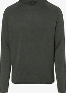 Brązowy sweter Nils Sundström w stylu casual z dzianiny